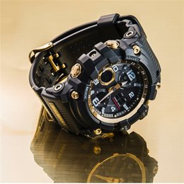 military watch box NZ - Army Green G Style Watch Outdoor Sport Man's Watches Wholesale With Box Compass 1282F LED Digital Military Shock Watches Montre Homme