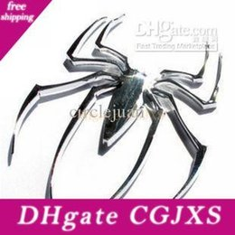 spider stickers decals Australia - Metal Car Stickers Spider Personalized 3d Stereo Decal Car Emblem Badge Sticker Bumper Stickers