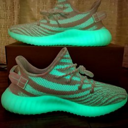 best womens running sneakers 2020 - Get the best deals on V2 Triple White Cream Glow in the Dark Kanye West Shoes Mens Womens CP9368 Running Sneakers Traine
