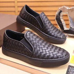 high quality weaves Australia - New high-quality outdoor casual shoes, pea woven leather breathable casual shoes set up fashion trend youth business wedding shoes, Qar