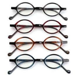 flat mirrors NZ - Round Vintage Reading Glasses Blue Light Blocking Glasses Computer Women Men Spring Hinge Flat Mirror Eyewear +1.0~+4.0