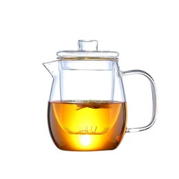 tea bloom Canada - 1200ml Glass Teapot with Removable Infuser Safe Tea Kettle Can Be Heated Flowering Tea Filter Blooming Loose Leaf Tea Maker Set