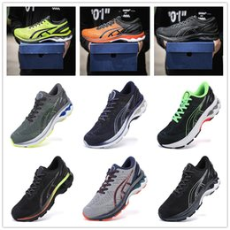 gel shoes run UK - Gel Kayano 27 mesh Sneakers for Men Trainers Men's Running Shoes Man Sports Shoe Male Jogging Chaussures Athletic Training Hommes Baskets 01
