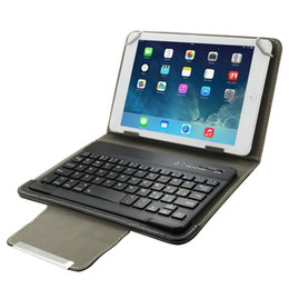 bluetooth case keyboard tablet pc 2020 - Universal Leather Case with Separable Bluetooth Keyboard and Holder for 10.1 inch Tablet PC