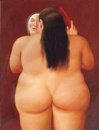 Discount famous modern abstract art paintings Nude Art Fat Woman Famous Oil Painting By Fernando Botero Modern Canvas Posters & Prints Abstract Wall Art Picture for Bedroom Home Decor