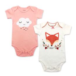 Wholesale cotton jumper suit for sale - Group buy 2 Piece Newborn Baby Bodysuit Print Body Suit Summer Baby Children Girl Boy short Sleeve Toddler Jumpers Infant Bodysuit