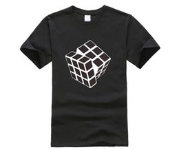 funny blocks UK - Round Neck Man's T-Shirt New Cube Qube Puzzle Blocks Retro Gaming Tshirt Man Clothing Cool Funny