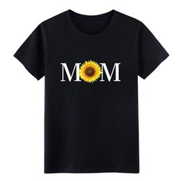 sunflower pictures Canada - mom sunflower mothers day mommy mama mother t shirt men Custom 100% cotton O-Neck Family Interesting Pictures shirt