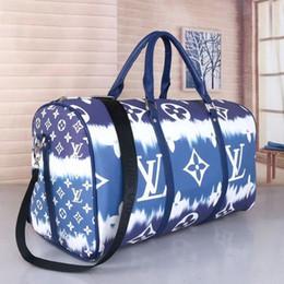 Toptan satış crossbody çanta kalite omuz spor çanta kilit kafa ile bagaj alt perçinler devam Harf seyahat çantaları alâmet 50cm büyük kapasiteli büyük bir çocuk