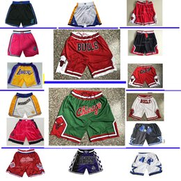 männer s jogginghosen kurz großhandel-nba shorts Los Angeles Lakers Chicago Bulls Toronto Raptors ORLANDO MAGIC BROOKLYN NETS Miami Heat Philadelphia ers men basketball shorts