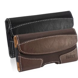 iphone belt holsters leather NZ - Phone Case Pouch universal Belt Clip holster Flip leather for iphone 6 6s 7 8 Plus sport carry waist bag fit 5.5inch