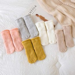 boys toddlers socks UK - 5 Colors Cute Winter Baby Socks Newborn Warm Thick Cotton Boys Girls Toddler Floor Socks