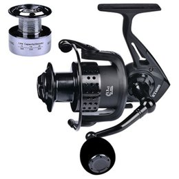 fishing black metal Canada - Luckinvoker Fishing Reel Right Left Black Brake Force Spool Spinning Metal Baitcasting Reel Handle Fishing Accessories