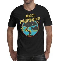 super-héros t-shirts achat en gros de-news_sitemap_homeFashion Hommes Foo Fighters Bannière Noir Ronde Col T shirt Drôle Super héros T shirts Rock and Roll Logo Greatest Hits Album Red Heart Dave