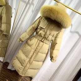 raccoon hooded parka UK - Women Down parkas for women winter jacket Winter Coat Ladies anorak women coats with real raccoon fur jackets