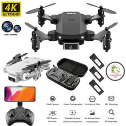 Drone Kamera Drone S66 Mini Katlanır Uzaktan Kumanda 4 K Çift Kamera HD Geniş Açı Hava Kamera WIFI FPV Drone Yüksekliği Tutma RC Quadcopter