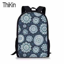 flower printed bags for girls NZ - THIKIN Student School Bag for Teenagers Girls Kids Vintage Flower Printing Large Size Book Bag Children School Suppiles mochila T200709