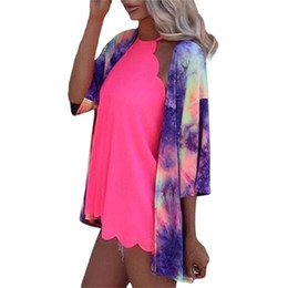 Tie Dyed Printing Shirt Long Sleeves Clothes Summer Jacket Refreshing Pleasantly Cool Good Looking Durable Hot Sale 26xq E2 on Sale