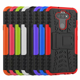 case silicone tire NZ - Dazzle Hybrid Case For LG K41S K51S Stylo 6 K51 G9 Galaxy Note 20 A21S Rugged Shockproof Armor Hard PC+TPU Anti-Skid Defender Tire Covers