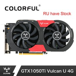 hdmi gpu Canada - Colorful NVIDIA GTX 1050Ti Graphics Card GeForce iGame GTX1050 Ti Gaming Video Cards 4GB GDDR5 128bit GPU For PC placa de video