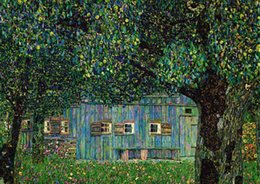 gustav klimt paintings NZ - Gustav Klimt - Farm House in Buchberg Home Decor Handpainted &HD Print Oil Painting On Canvas Wall Art Canvas Pictures 200711