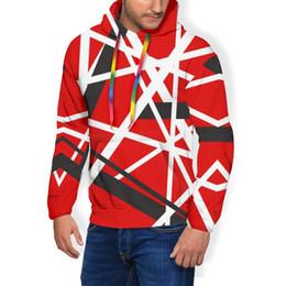 Wholesale van hoodie online – oversize Van Halen Hoodie EVH STRIPES Hoodies Popular Polyester Pullover Hoodie Streetwear Mens Over Size Hoodies CX200723