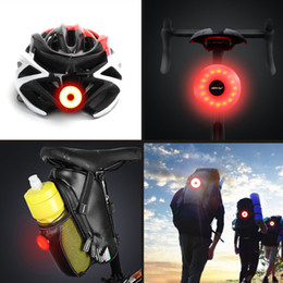 helmet bike light UK - Mini LED Bicycle Tail Light Usb Chargeable Bike Rear Lights IPX5 Waterproof Safety Warning Cycling Light Helmet Backpack Lamp