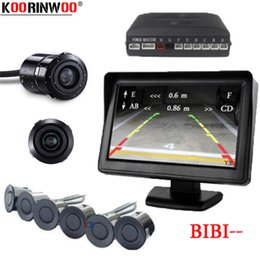 channel dvd player Canada - Koorinwoo Dual Channel Car Video Parking Radar Sensor Front Rear 6 Sensors Video Input For Car Parking Camera Monitor DVD Player