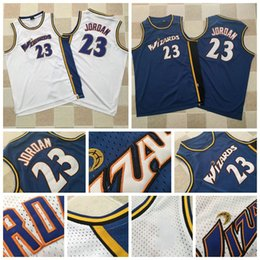 Wholesale vintage bullets for sale – custom Mitchell Ness Vintage Mens Washington Wizards nba Michael MJ Bullets blue white Mesh Embroidery Stitched Basketball Jerseys