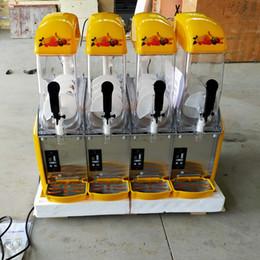 Wholesale Commercial four cylinder Slush Machine Smoothie Ice And Snow Melting Machine Snow Slush Maker Suitable for milk tea shops