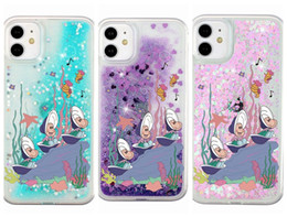 underwater case for iphone UK - Underwater World Shell Liquid Case For Iphone 11 Pro Max XR XS MAX 8 7 6 Quicksand Flower Star Glitter Hard PC +Soft TPU Fashion Back Cover