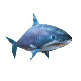 flying fish balloon UK - Shark Toys Air Swimming Fish Flying Air Balloons Clown Fish Kid Toys Gifts Party Decoration Drop ship.#ERT