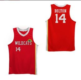 Wholesale bat man movies for sale – halloween Custom Men Youth women Vintage WILDCATS Troy Bolton Rare movie version basketball Jersey Size S XL or custom any name or number jersey