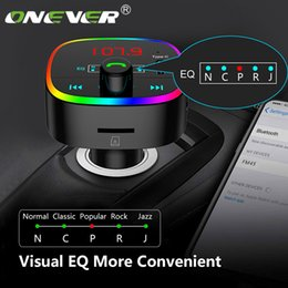 car fm transmitter mp3 player NZ - Onever Bluetooth 5.0 FM Transmitter Car Kit MP3 Modulator Player Handsfree Audio Receiver Fast Charger Multiple sound effects
