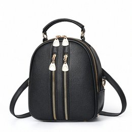 small double zipper bag UK - 2020 Leather Women Handbags High Quality Double Zippers Small Women Messenger Bag Casual Purses Handbags Bolsa Feminina kwST#