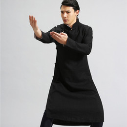 Wholesale costume tai chi for sale - Group buy 2020 Hot Selling Long Designer Outfit Tang suit Jacket Wu Shu Tai Chi Clothing Outfit Long Sleeves Exercises costume