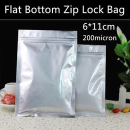 wholesale spice packaging UK - Free Shipping 500pcs lot Small 6cm*11cm 200micron Aluminum Foil Zip Lock Packaging Bag Spice Powder Feeds Snack Zip Bag