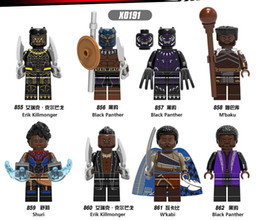 kids blocks wholesale Australia - X0191 Black Panther M'baku Shuri Eric Killmonge Building Blocks Bricks Figure Collection For Kids Toys Gift