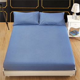 Wholesale Fitted Sheet Bed Cover Fitted Cover Mattress Protection Solid Color Brushed Cloth Polyester Fabric Suitable Western Style VT1405