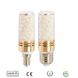 dimmable energy saving bulbs NZ - Mobile Phone Wireless Remote Dimmable Color-Adjustable Smart Bulb 6W 9W led Corn light Energy-saving lamps E14 E27 Base 90-260V 2700-6500K.