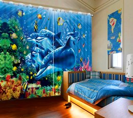 curtain painting UK - Decorative Door Curtain Photo Painting 3D Photo Curtains Blackout Backdrop Curtain Kitchen Window
