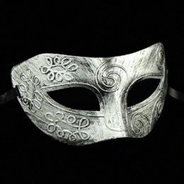 half face head mask UK - Halloween Horror Ball Party Mask Retro Jazz Flat Head Mask Antique Half Face Decoration Men Style Red Masks For Masquerade Ball Beauti lGrK#