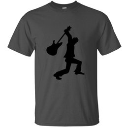 music bass guitar Canada - Vintage Slogan Electric Guitar Player Accoustic Bass Rock Music T-Shirt Man Clothing Gray Graphic Tshirts Hiphop Tops