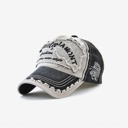 ball head cap UK - Tiger head cap capEmbroidered baseball capsun hat women's embroidery baseball hat cotton Men's Outdoor Leisure cap