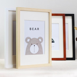 Wholesale Nordic Simple Wooden Frame A4 A3 Black White Color Picture Photo Frames for Wall Picture Frames Wall Photo Frame Home Decor