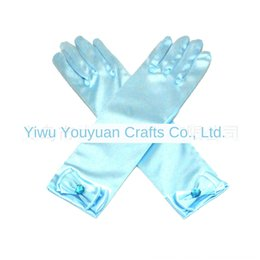 bow leather gloves NZ - jvZEu Aisha long white Butterfly with bow pointed children's performance Aisha long white pearl Butterfly Pearl gloves with bow pointed chil