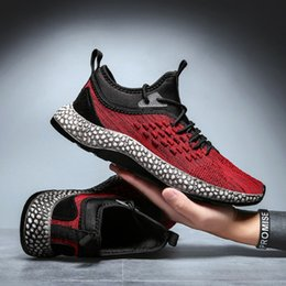 sports training shoes NZ - ports & Entertainment Men Big Size Sport Walking Shoes Lightweight Outdoor Running Trail Sneakers Black Red Comfortable Training Shoes fo...