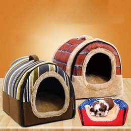 housing Australia - New Pet Dog Kennel Cat Bed House Warm Soft Mat Bedding Igloo Sleeping Basket Nest Washable Snug drop ship Products MLa0#