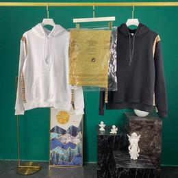 Wholesale high collar hoodie women for sale – custom 22020Mens Clothing Homme Hooded Sweatshirts Mens Women Designer Hoodies High Street Print Hoodies Pullover Winter Sweatshirts S XL6