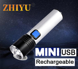 cool torches UK - Min Portable LED Rechargeable Lamp 3 Modes Zoom Torch Cool Lantern XPE COB Built-in Battery Camping Walking
